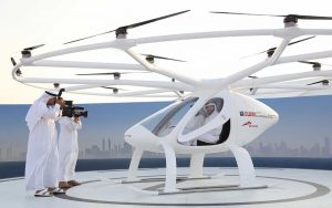 Flying volocopter Dubai
