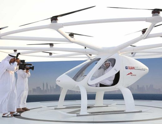Flying volocopter Dubai