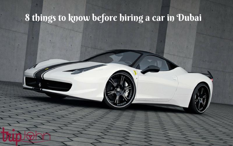 Car rental in Dubai By Tripjohn