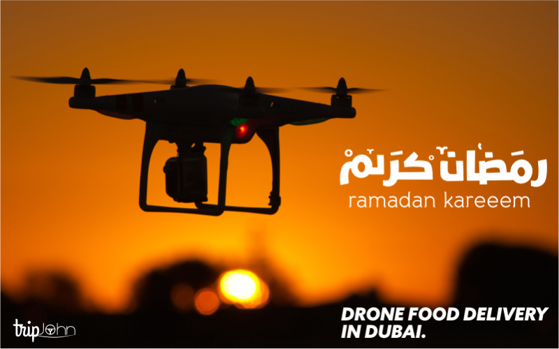 Free food delivered by drones in dubai Tripjohn
