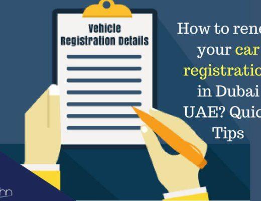 renew your car registration in Dubai by Tripjohn car rental dubai