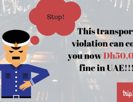 Traffic violation rules in Dubai-TripJohn