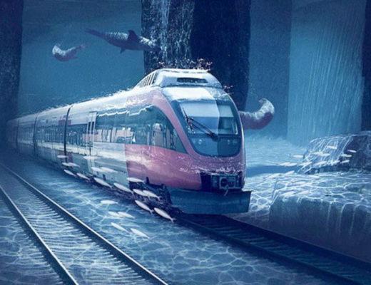 Underwater train between Dubai and Mumbai